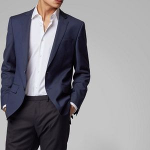 Hugo boss blue super 120 slim fit blazer